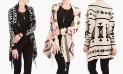 Olive Street    Blanket Cardigan    Gpl 2060    Ivory/charcoal    L