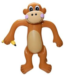 Fun Express Jumbo Inflatable Monkey - Size: 5 Feet