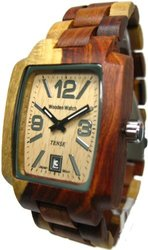 Tense Men's Inlaid Natural Wood Watch - Light Dial