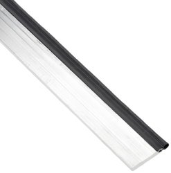"""Pemko Heavy-Duty Perimeter Gasketing, Head Section, Mill Finish Aluminum with Black Silicone Insert, 0.25"""" W x 1.5"""" H x 36"""" L"""