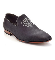 Cuban Embroidered Loafers - Black - Size: 12