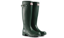 Hunter Stripe Women's Tall Rubber Rain Boot - Green - Size: 5