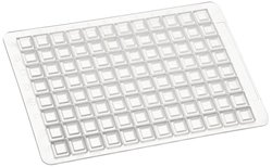 Brand Tech 701362 Mat 96-Well Deep Well Plate Mat 24Pk - White - 2.2mL