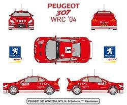 Heller Peugeot 307 WRC 04 Car Model Building Kit - 63-Parts