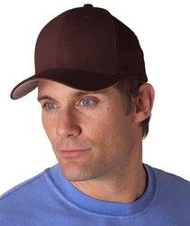 Flexfit Unisex Cott on Blend Cap - Brown - Size: Medium