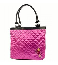 Little Earth Women's NCAA Arizona State Quilted Tote - University Pink