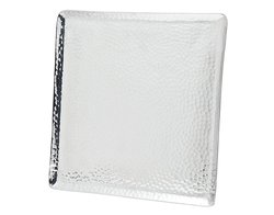 "Godinger Hammered Rectangle Tray - Size: 12"" x 12"""