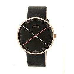 Simplify The 4100 Men's Watch: Sim4106 Black Band-black Dial