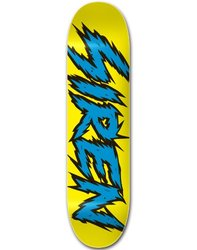 Siren Complete Team Shocker Skateboard Deck - Blue/Yellow - Size: 8.25