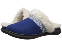 Spenco Women's Suede Nordic Slide Slippers - Navy - Size: 5