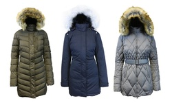 Spire By Galaxy Women's Down Jacket - Navy - Size: Large
