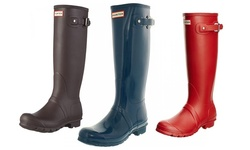 Tall And Tall Gloss Rain Boots: Petrol/9.0