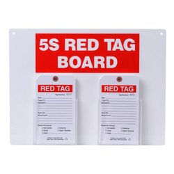 "Brady  122055, Red on White 5S Red Tag board with 7"" H x 4"" W Tags (1 Kit)"