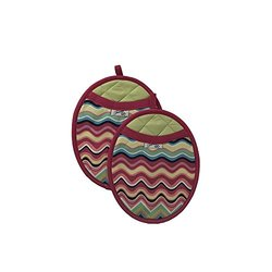 "Fiesta Pot Mitt with Neoprene Pad Pack of 2 - Size: 8"" x 10"""