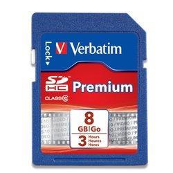 Verbatim VTM96318 Premium 8GB SDHC Flash Memory Card- Class 10 (96318)