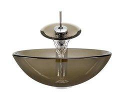 Aurora Sinks G01-Desert Glass Vessel Sink & Faucet Package 17