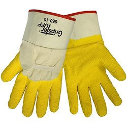 Gripster Premium Rubber Dipped Glove - Yellow - Size: X-Large (660)