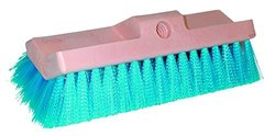 "Magnolia Brush 186 Bi-Level Scrub Brush, Crimped Plastic Bristles, 1-3/4"" Trim, 10"" Length x 3"" Width x 1-7/8"" Height, Blue (Case of 12)"