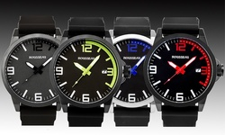 Rousseau Dufaux Men's Watch: RU-15167 - 62627775 Black Blue Dial