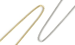 """Italian Round Box Chains: Sterling Silver/22"""""""