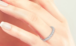 2.25 CTTW Diamond Eternity Band in 18K White Gold - Size: 7