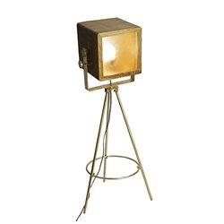 Yosemite Home Decor Wood Shade Brass Single Light Floor Lamp