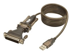 TRIPP LITE USB to RS232 Serial Adapter Cable USB-A to DB25 - Sizer: 5 Ft