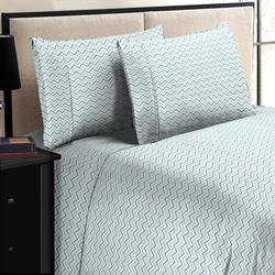 Home Dynamix Jill Morgan Fashion Sheet Set - Blue - Size: Full - 4 Piece