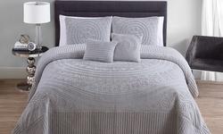 Hilltop Bedspread (5 Piece): Queen-taupe