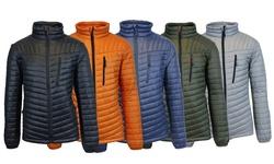 Mens Lightweight Spire Puffer Jacket: Royal Blue-orange/xxl