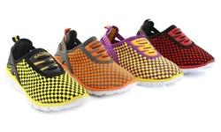 Mata Women's Rubber Shoes: Black Yellow/7