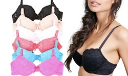 Women's 6-Pack Floral Lace Underwire Bras - Assorted - Size: 34B