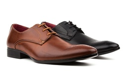 Lace-up Dress Shoes: Toe Design-black/11