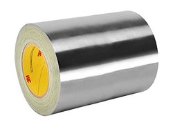 """Tape Case Silver Stainless Steel Adhesive Foil Tape - Size: 12"""" W x 18yd L"""