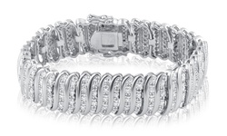 Brilliant Diamond Women's 2CT Diamond Single Row Bracelet - 14K White Gold