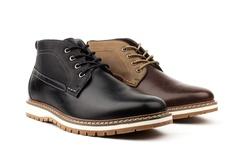 Vincent Cavallo Men's Two Tone Chukka Boots - Dark Brown - Size: 8.5