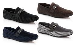 Franco Vanucci Men's Roberto Driver Shoes - Black - Size: 10.5