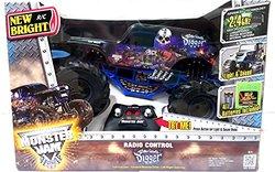 New Bright Monster Jam Radio Control Son UVA Digger RC 2.4 GHZ 1:10 Sound Light Large Truck