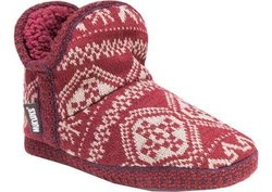 Muk Luks Women's Amira Booties: Red/large