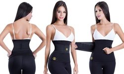 Hot Shapers Women's Waist Trimmer with Slimming Belt - Black - Size: 4x
