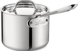All-Clad Tri-Ply Stainless-Steel Saucepan - 2-Qt.