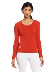 66 North Women's Grettir Long Sleeve T-shirts - Scarlet - Size: XX-Large