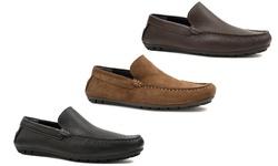 Joseph Abboud Men's Yacht Moccasin Shoes - Navy - Size: 11