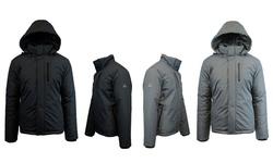 Spire by Galaxy Men's Heavyweight Tech Jackets - Dark Grey - Size: XL