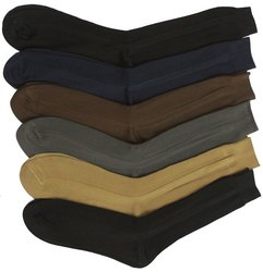 Men's 12-Pack Solid Color Dress Socks -  Assorted - Size: 10-13