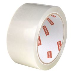"Staples 1.89"" X 54.7 Yds Clear Pull & Seal Packaging Tape - 6 Rolls"