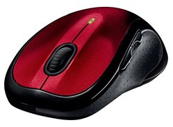 Logitech M510 Wireless Mouse - Red (910-004554)