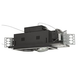 Double Gimbal AR111 2-Light Linear Directional Lighting Fixture - Black