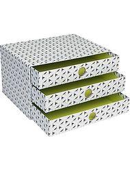 "Paperchase 2.2"" x 8.9"" x 7.1"" 3 Drawer Get Organized Storage"