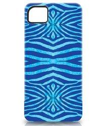 Nicole Miller Polycarbonate Case for iPhone 5 - Zebra Blue (ICP5079-ZEBL)